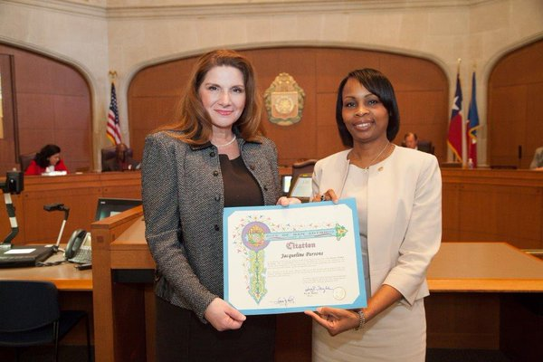 Mayor Taylor presents Citation