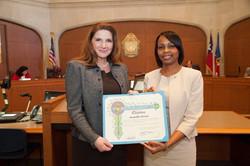 Mayor Taylor presents Citation