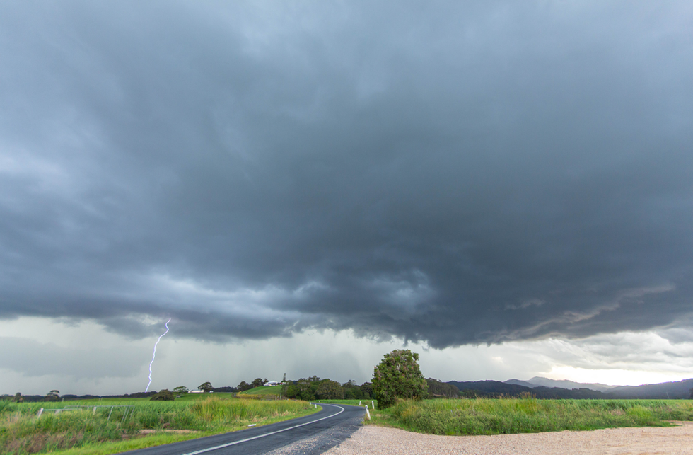 Storm decays with outflow