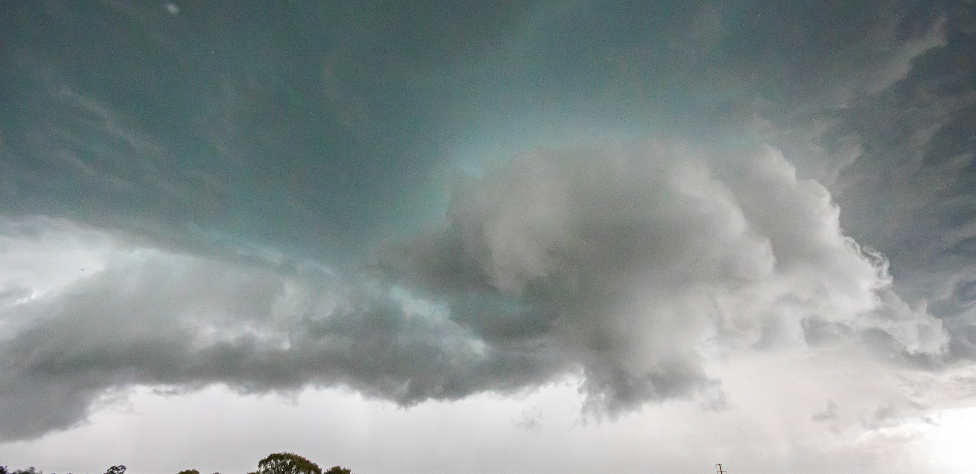 Wall cloud with rotation