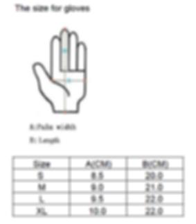 Callus Glove Co Sizng Chart
