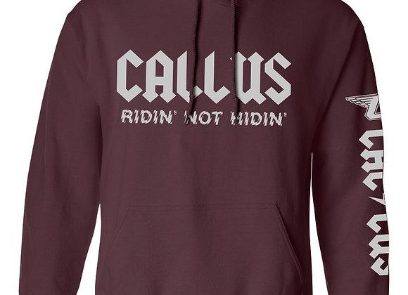 Maroon Lightning pullover hoodie