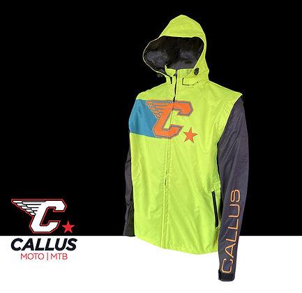 Neon green zip off jacket