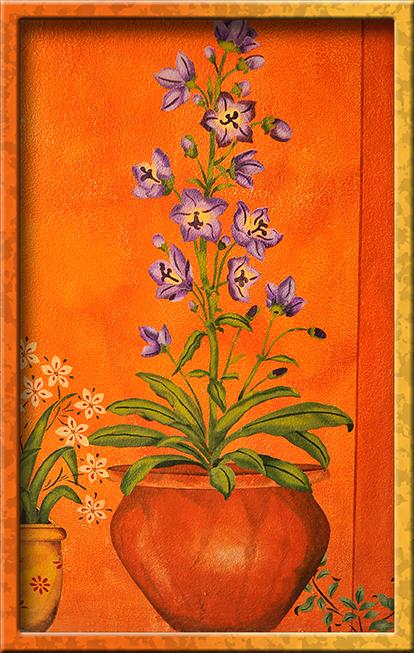 Flower/pot stencil