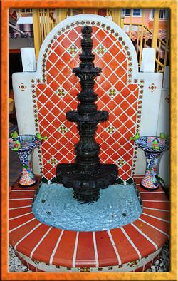 Mexican tile fountain