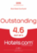 2016 outstanding 4.6 out of 5 hotels.com