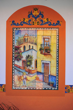 Mexico tile mural