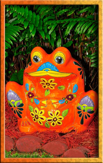 Talavera frogs everywhere!