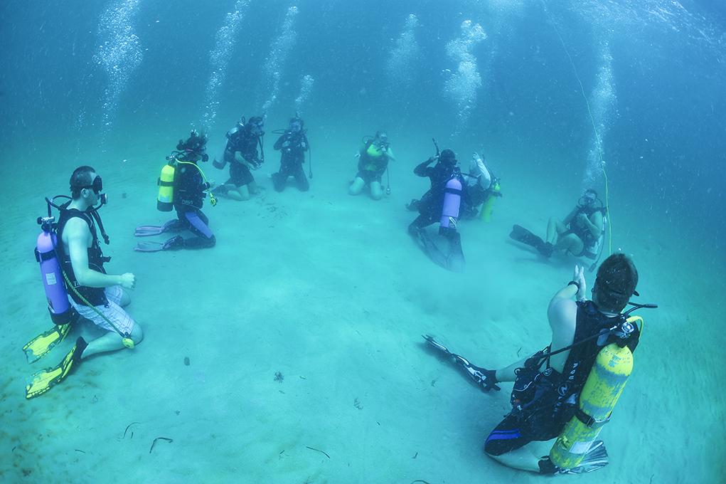 Local scuba class