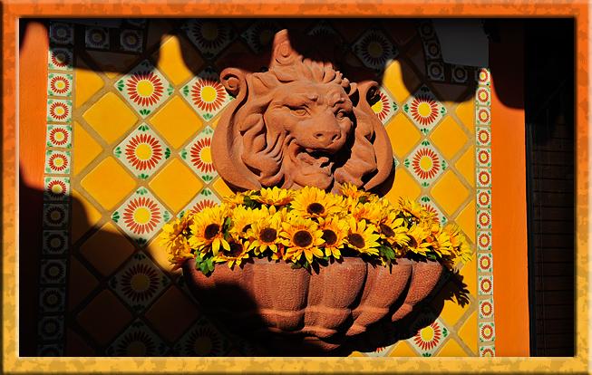 Terra Cotta lion fountain