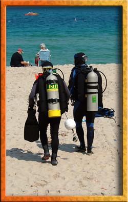 Easy beach diving