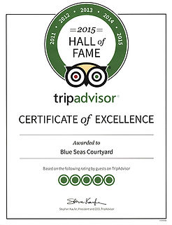 2015 hall of fame for trip advisor certificate of excellence