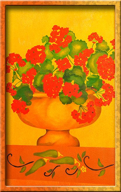 Elegant geranium stencil