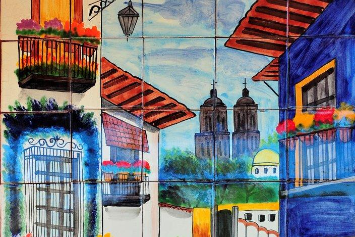 Outdoor art gallery, Mexico color