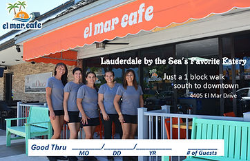 el mar cafe lauderdale by the sea's favorit eatery just a 1 block walk outhto downtown 4405 el mar drive