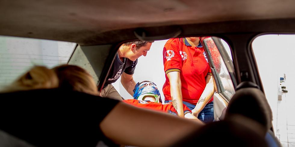 Extricacion vehicular  basica en eventos que no requieran herramientas de rescate