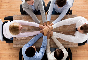 business, people, cooperation and team w
