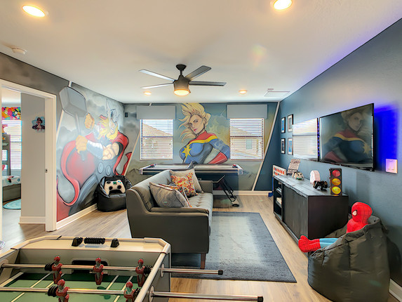 Super Hero Game Room