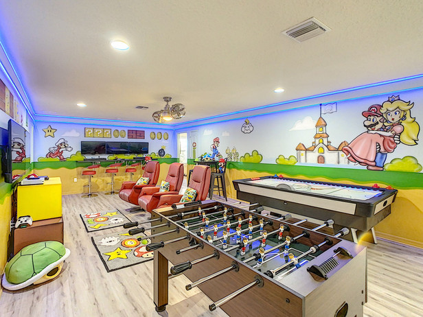 Mario Themed Game Room