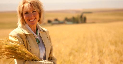 Linda in Wheat Field, Oregon