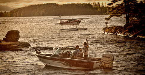 Waving at Float Plane Lake Vermillion Minnesota