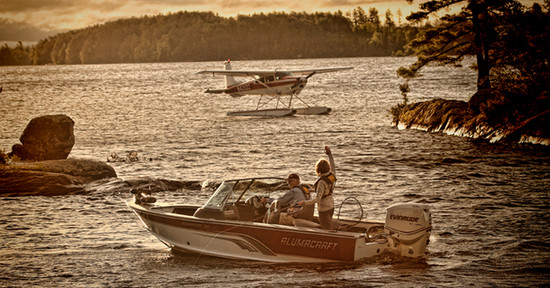Waving at Float Plane Lake Vermillion Minnesota