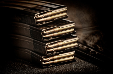 Sniper rifle bullets in magazines