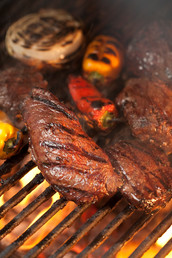 Steaks on Grill