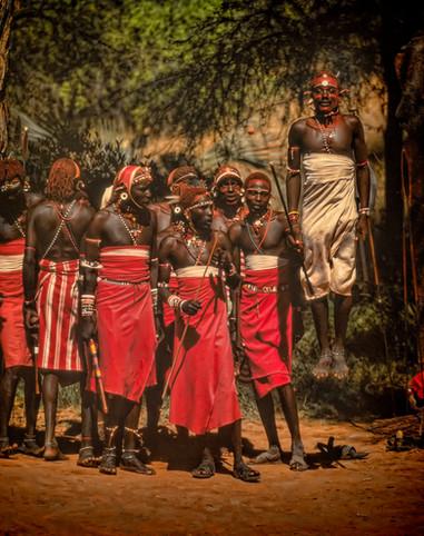 Samburu Tribesmen Africa Kenya ceremony