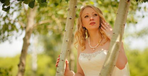Spring Outdoor Wedding Portrait