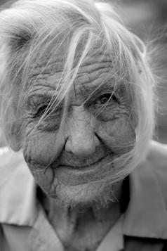 Elderly lady portrait