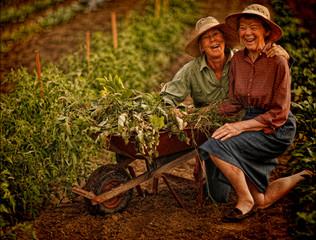 Jean & Mom in the Garden