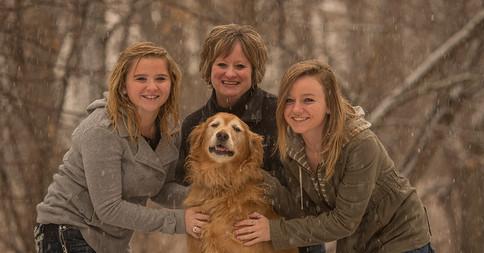Family Portrait in Snow