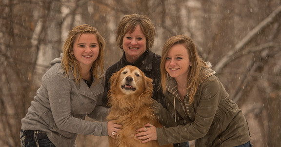 Family Portrait in Snow