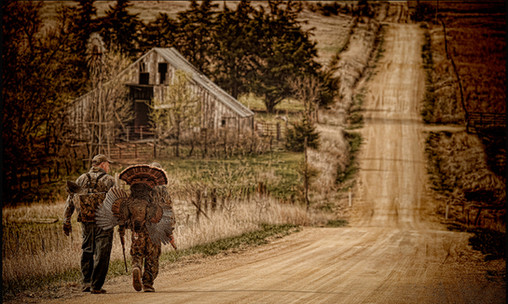 Father and Son Successful Turkey Hunting, Kansas