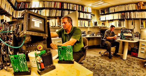 Factory Engineers Working