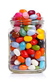 Jelly beans sugar candy snack in a jar i