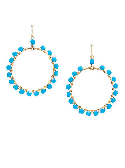 Cleopatra Hand Wrapped Hoop Earrings MP14