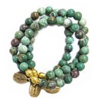 Often Wander Pale Ruby Zoisite Beaded Bracelet