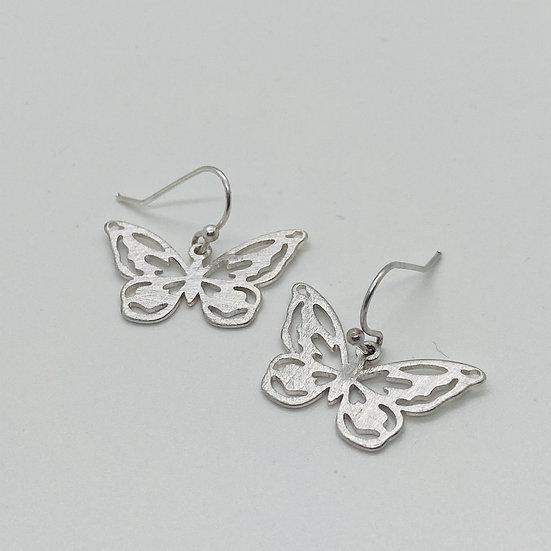 Tiny Butterfly Drop Earring