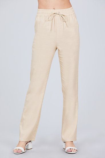 Whimsy Basic Linen Pull-On Pant