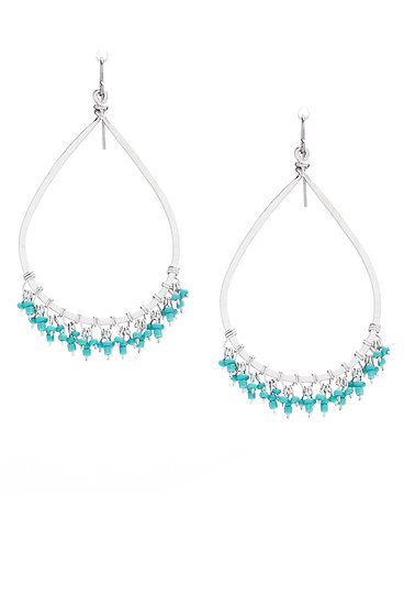 Teardrop Hoops withTurquoise