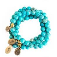 Often Wander Blue African Turquoise Beaded Bracelet
