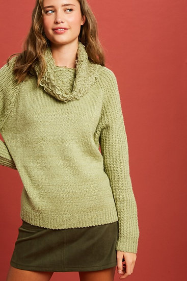 Sherpa Weave Cowl Neck Sweater