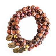 Often Wander Lotus Jasper Beaded Bracelet