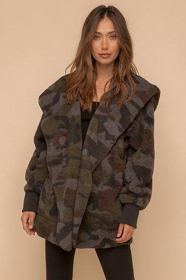 H&T Camo Fleece Jacket