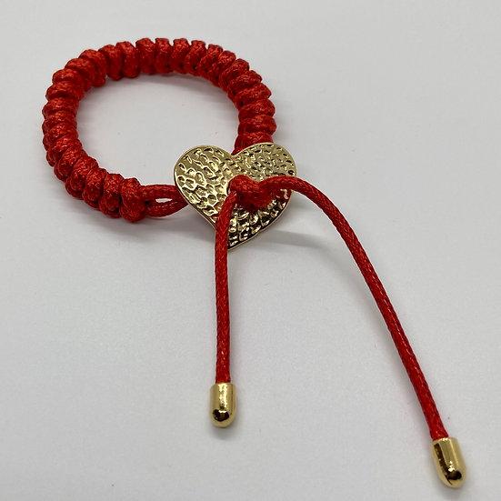 Hammered Heart Toggle Bracelet