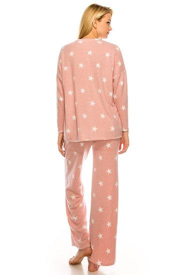 Peachy Pink Stars Pajama Set