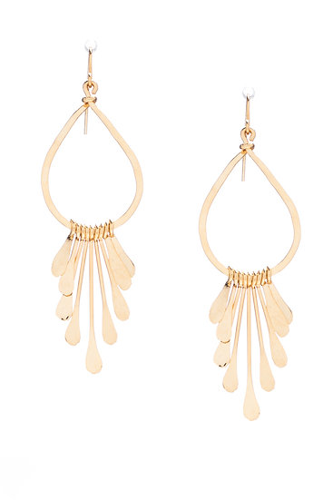 Teardrop Hoops with Dangles