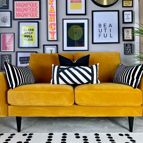 Introducing turmeric, a limited edition colourway by Snug - the sofa in a box company